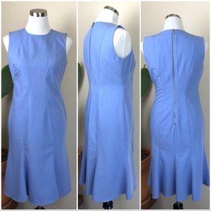 •CALVIN KLEIN• Light Blue Sleeveless Sheath Dress
